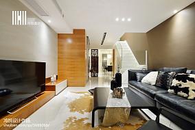 2018精选106平米三居客厅现代装修设计效果图片欣赏三居现代简约家装装修案例效果图