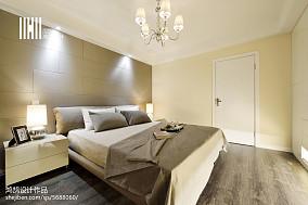 2018面积94平现代三居卧室装修图片三居现代简约家装装修案例效果图