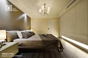 热门面积91平现代三居卧室欣赏图片三居现代简约家装装修案例效果图