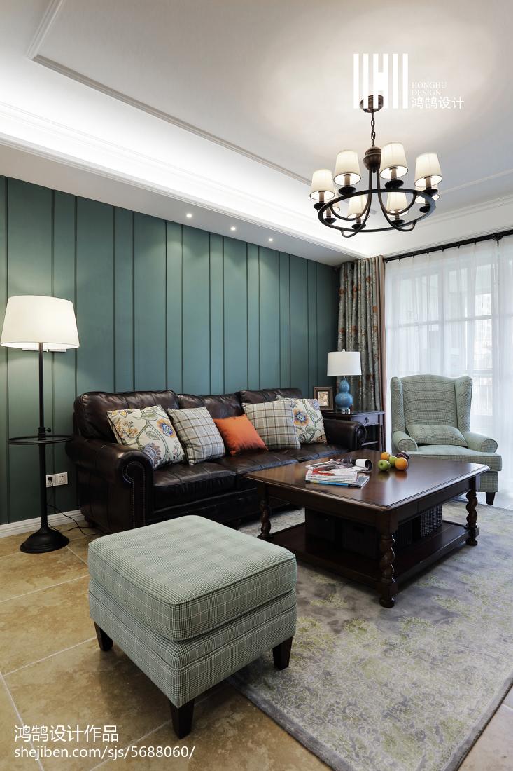 精美95平米三居客厅美式装修欣赏图客厅美式经典客厅设计图片赏析