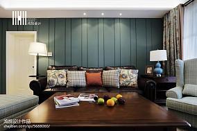 精美104平米三居客厅美式装修设计效果图片欣赏