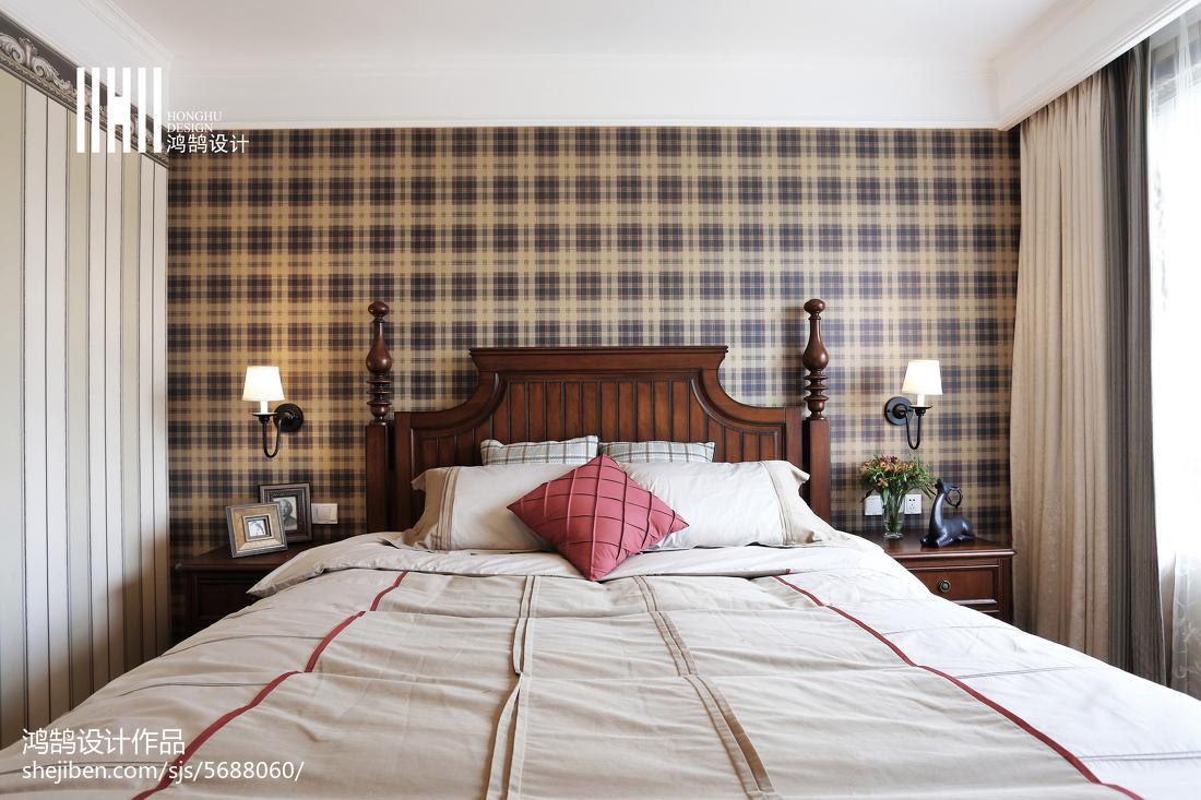 热门100平米三居卧室美式装修设计效果图片卧室美式经典卧室设计图片赏析