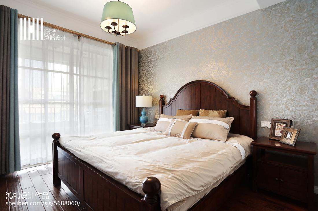热门101平米三居卧室美式欣赏图卧室美式经典卧室设计图片赏析