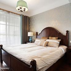 热门101平米三居卧室美式欣赏图
