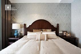 2018100平米三居卧室美式效果图片