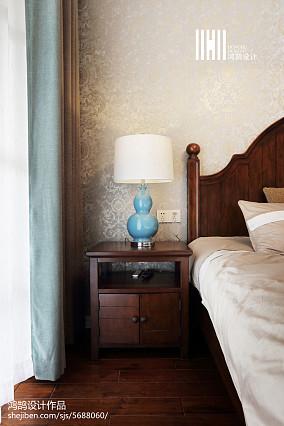 精选92平米三居卧室美式装修效果图片大全