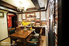 精美面积70平美式二居餐厅装修实景图