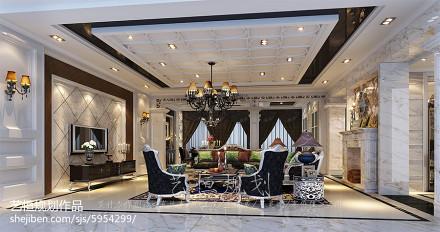 精选面积129平别墅客厅新古典效果图片欣赏