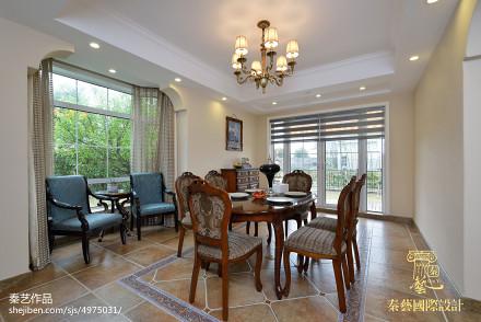 精美面积134平别墅餐厅欧式装修图片大全厨房