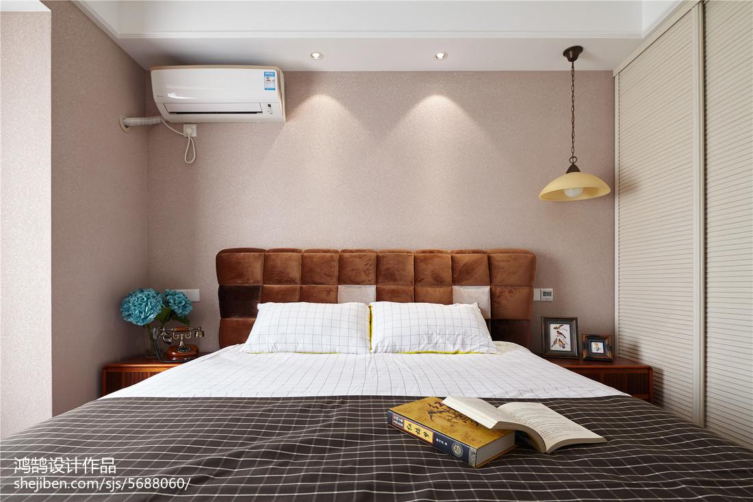 2018精选面积98平美式三居卧室装饰图片大全卧室美式经典卧室设计图片赏析