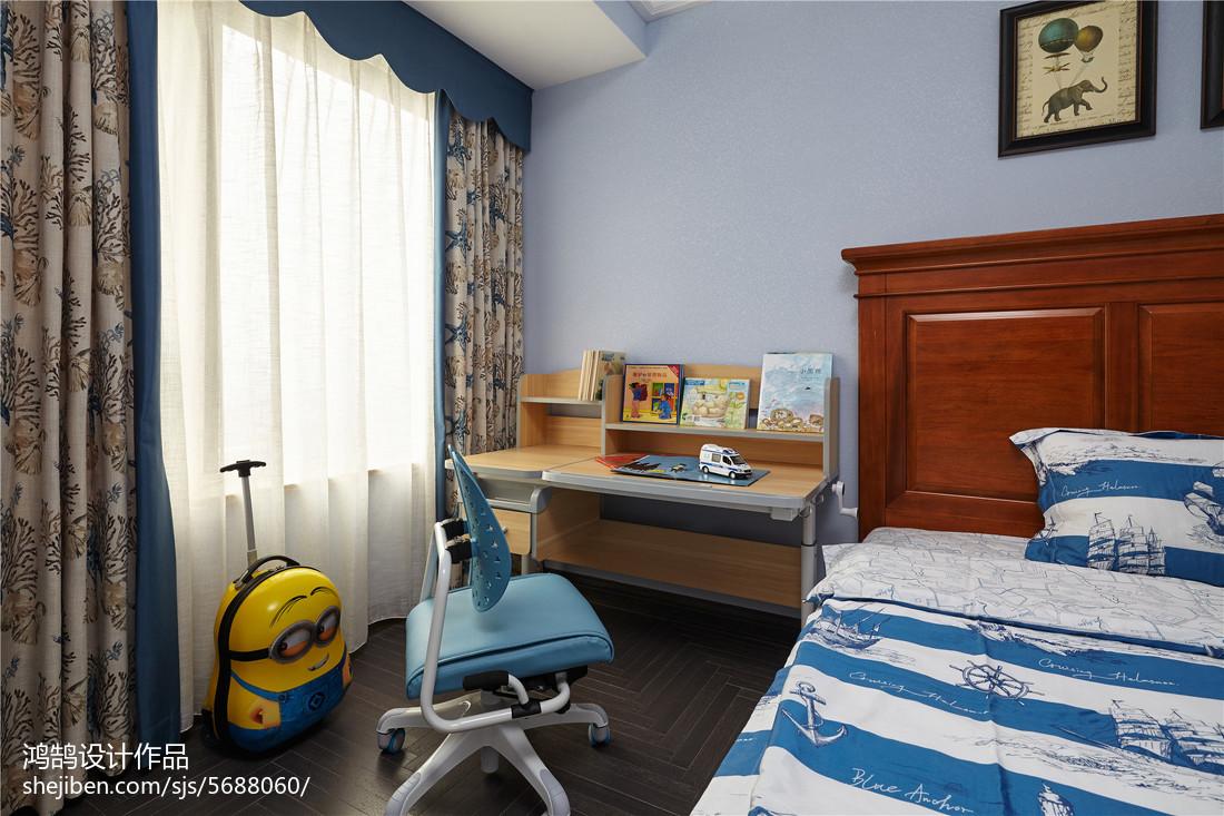 精选美式三居儿童房装修效果图卧室美式经典卧室设计图片赏析