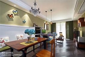 精选103平米三居餐厅美式装饰图