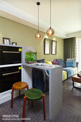 简洁82平美式三居装饰美图三居美式经典家装装修案例效果图