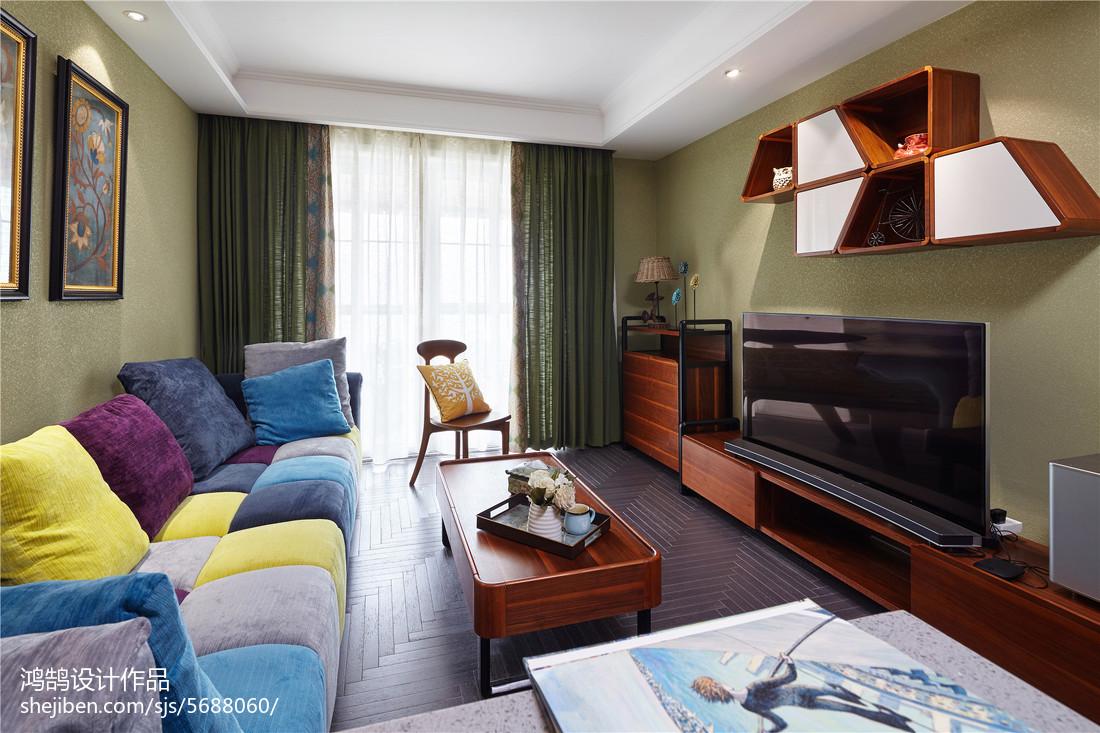 精选面积108平美式三居客厅装修效果图片客厅美式经典客厅设计图片赏析