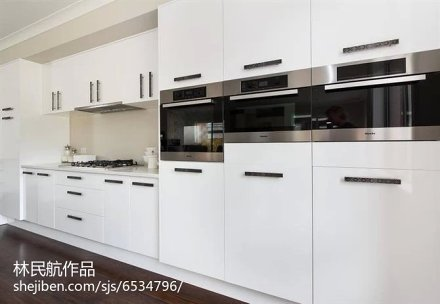 面积128平别墅厨房北欧装修效果图片欣赏