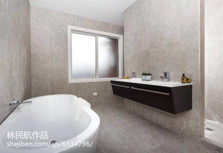 精美131平米北欧别墅卫生间装修设计效果图片欣赏