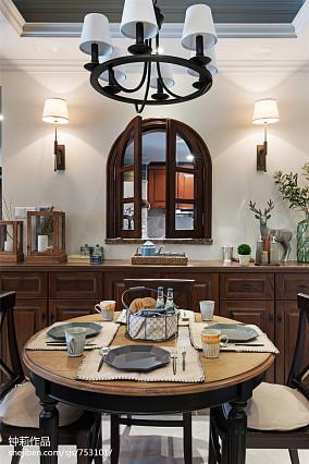面积98平美式三居餐厅装饰图片欣赏