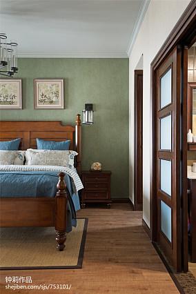 2018三居卧室美式装修效果图片