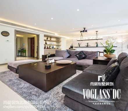 精美大小127平别墅客厅现代装修实景图片