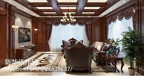 热门114平方欧式别墅客厅装修设计效果图片