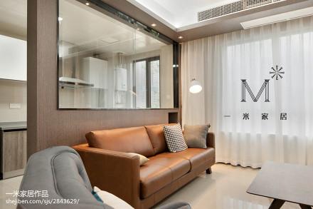 精美大小78平现代二居客厅实景图片大全