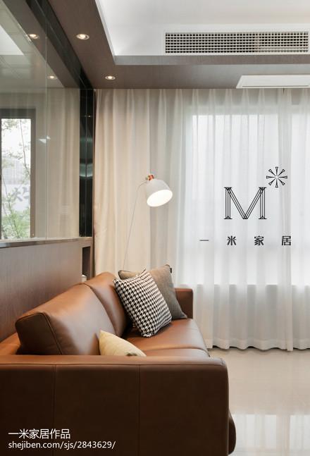 精美75平方二居客厅现代装修设计效果图片
