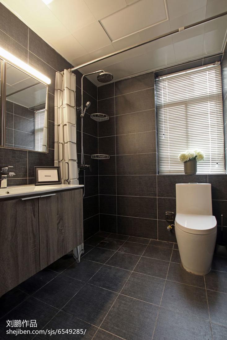 简约风格卫浴装修图卫生间现代简约卫生间设计图片赏析