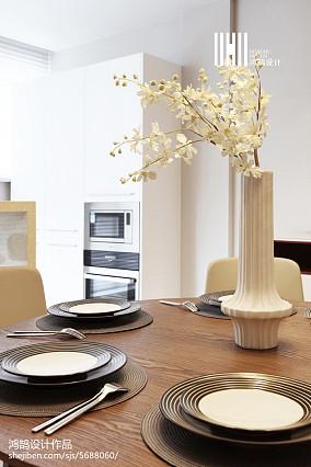 精美129平米现代复式餐厅装修设计效果图片