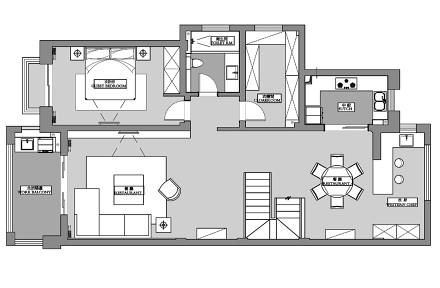 201951平现代复式设计效果图