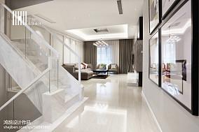 精选现代复式过道效果图片复式现代简约家装装修案例效果图
