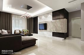 精美72平现代复式客厅图片欣赏复式现代简约家装装修案例效果图