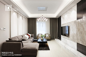 优雅53平现代复式设计图复式现代简约家装装修案例效果图