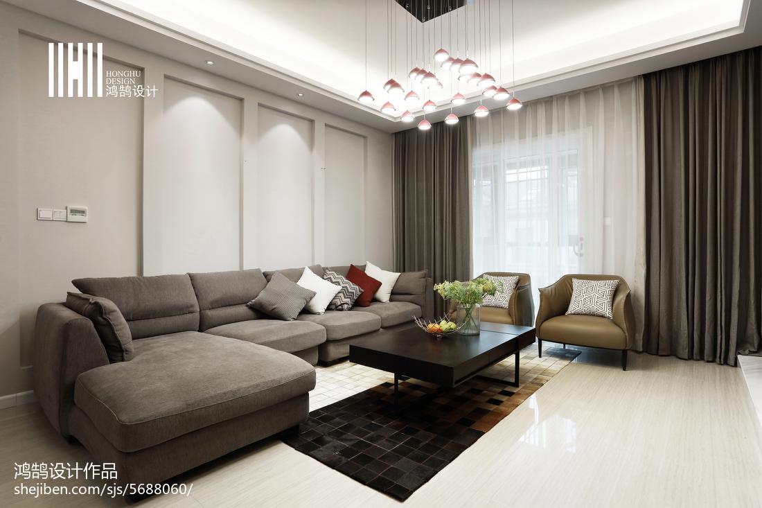 悠雅46平现代复式装修图片客厅现代简约客厅设计图片赏析