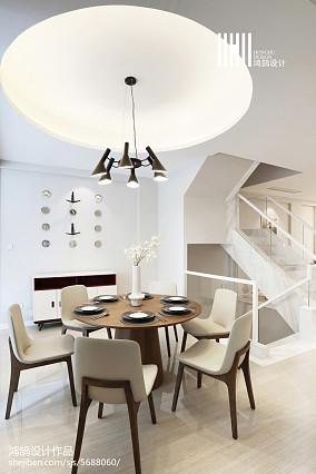 精美135平米现代复式餐厅实景图