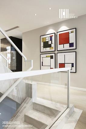 热门现代复式过道效果图片大全复式现代简约家装装修案例效果图