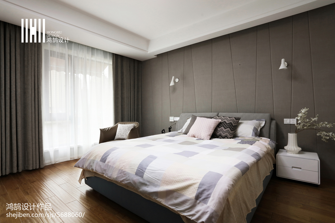 现代房间布置卧室现代简约卧室设计图片赏析
