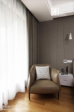 精美124平米现代复式卧室实景图片复式现代简约家装装修案例效果图