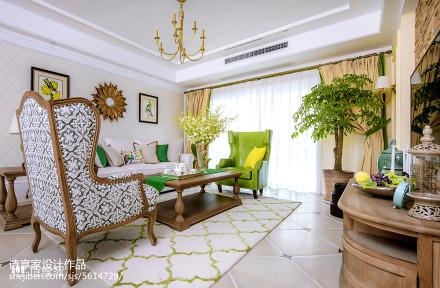 华丽83平美式三居客厅效果图片大全