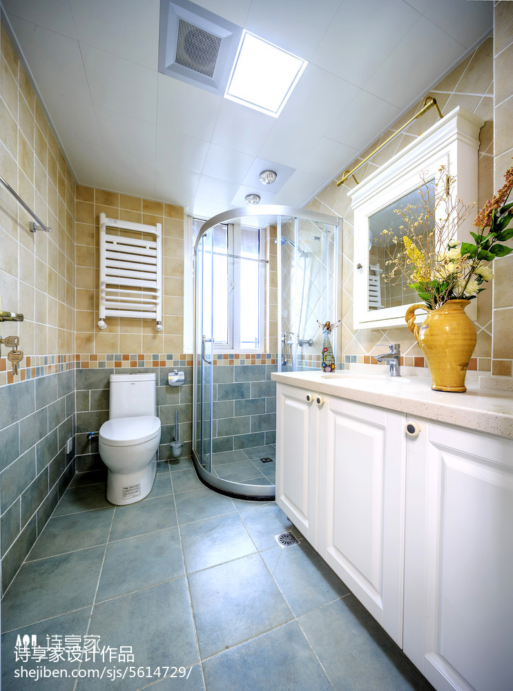 浴室瓷砖防滑卫生间美式经典卫生间设计图片赏析