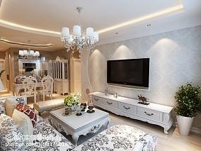 时尚现代家装二居室效果图