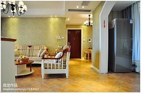 2018精选面积98平美式三居客厅装修效果图