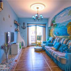 201887平方二居客厅地中海效果图片大全