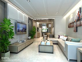 精选94平米三居客厅简约装饰图片欣赏
