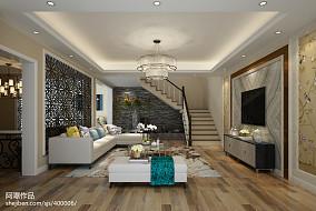热门面积117平复式客厅现代装修设计效果图片大全