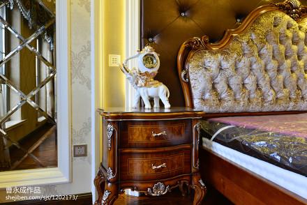 华丽846平欧式别墅卧室装修案例卧室