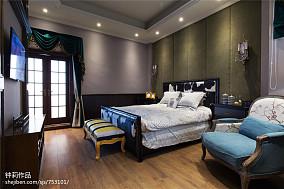 简洁223平混搭别墅卧室装修案例