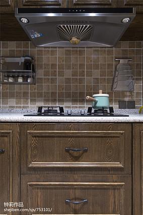 2018面积120平别墅厨房混搭装修实景图片