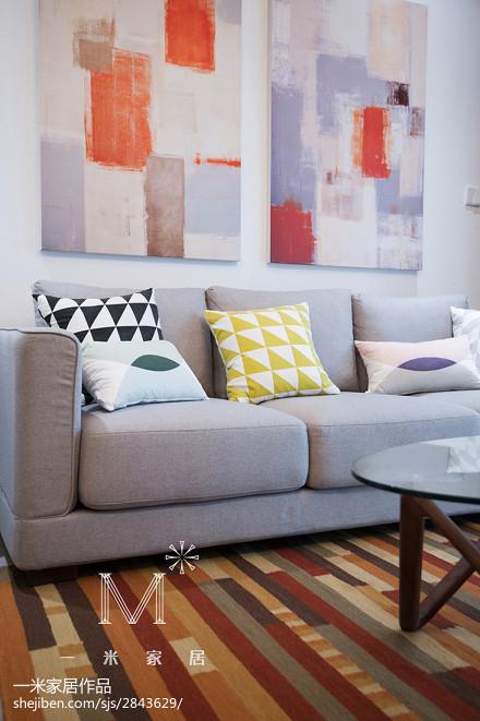 精美80平米二居客厅现代实景图片