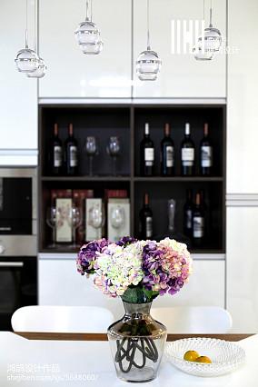 鸿鹄作品:◤白影◢138㎡现代简约三居现代简约家装装修案例效果图