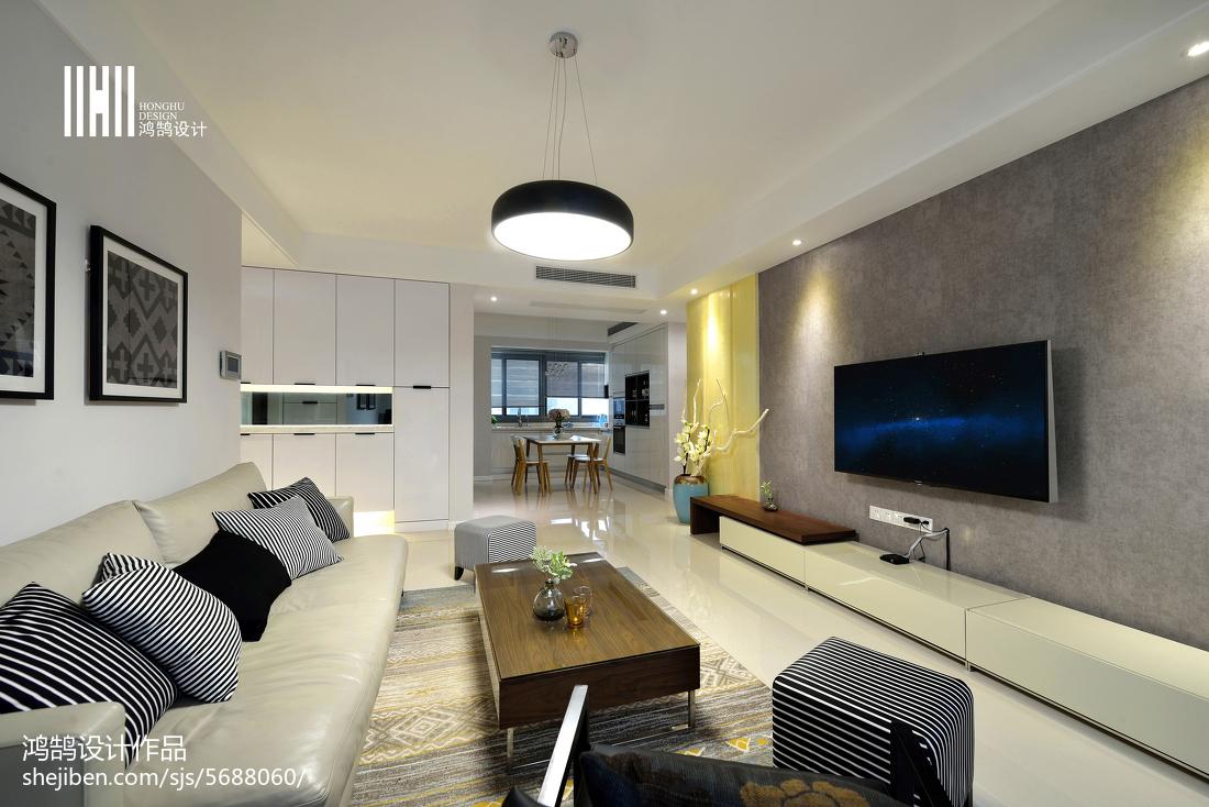 精选现代装修效果图片欣赏101平客厅现代简约客厅设计图片赏析